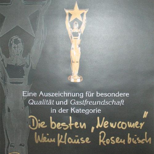 Gastronomiepreis Newcomer