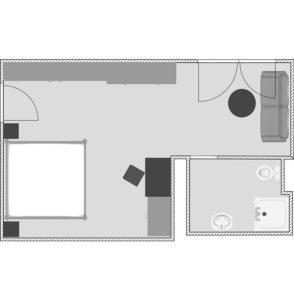Zimmer Skizze Wohlfühlzimmer