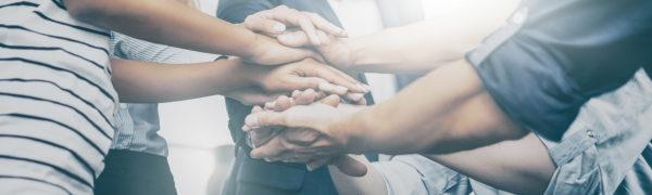 Teamwork Handschlag