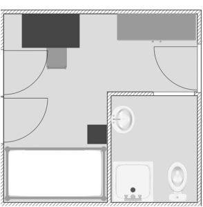zimmerskizze einzelzimmer